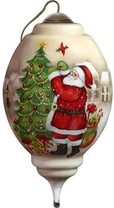 Precious Moments I'll Be Home for Christmas Santa Shaped Ornament