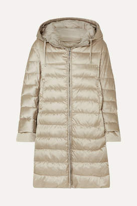 Max Mara The Cube Hooded Quilted Shell Down Coat - Taupe