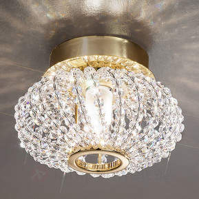 CARLA Kristall-Deckenleuchte mit Gold