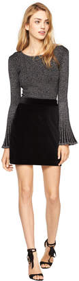 Milly VELVETEEN MODERN MINI SKIRT