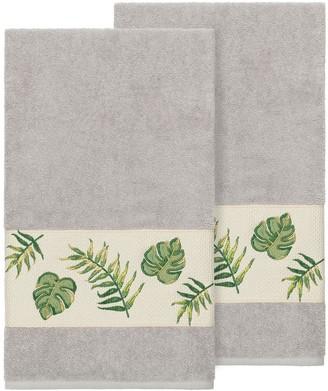 Linum Home Textiles Turkish Cotton Zoe Embellished Bath Towel Set
