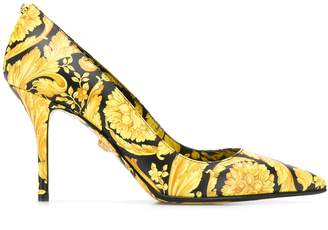 Versace Baroque printed pumps