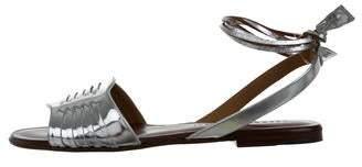 Veronica Beard Fawn Metallic Sandals w/ Tags
