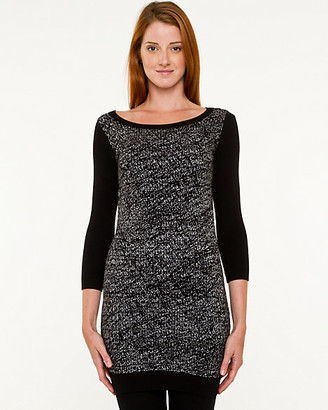 Le Château Viscose Blend Abstract Print Sweater