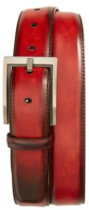 Men's Magnanni Burnished Leather Belt $150 thestylecure.com