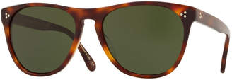 Oliver Peoples Men's Daddy B Square Acetate Sunglasses - Dark Mahogany