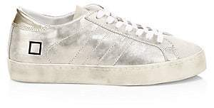 D.A.T.E Women's Hill Metallic Leather Low-Top Sneakers
