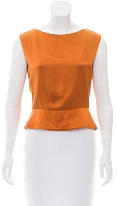 J. Mendel Sleeveless Satin Top