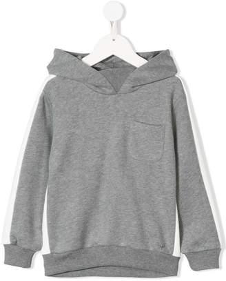 Il Gufo side stripe hoodie