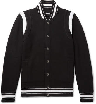 Givenchy Logo-Embroidered Wool Varsity Jacket - Men - Black