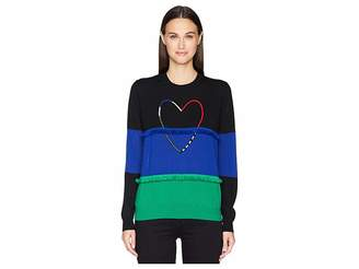 Paul Smith Heart Color Block Sweater