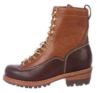 Visvim Leather Mid-Calf Boots
