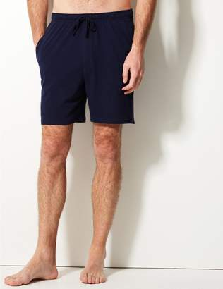 Marks and Spencer 2 Pack Pure Cotton Stay Soft Pyjama Shorts