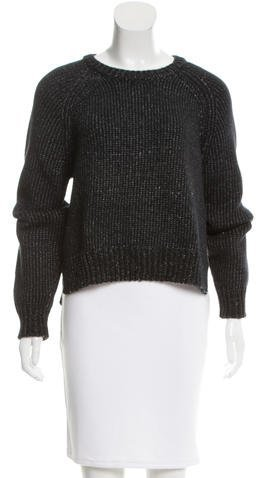 Alexander Wang T by Alexander Wang Rib Knit Crew Neck Sweater