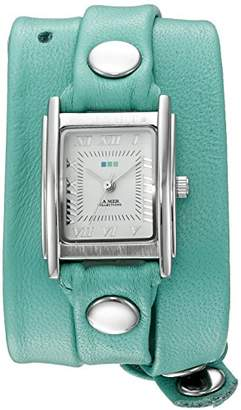 La Mer Women's 'La Mer Collections Women's Mint Silver Triple Wrap Watch' Quartz Silver-Toned Leather Casual Watch (Model: LMSTWGMA14005)