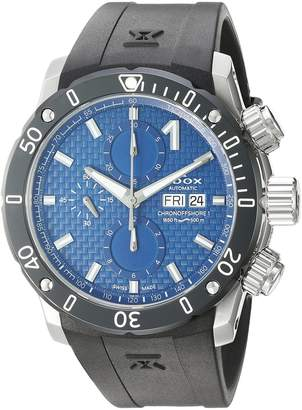 Edox Men's 01122 3 BUIN Chronoffshore-1 Analog Display Swiss Automatic Black Watch