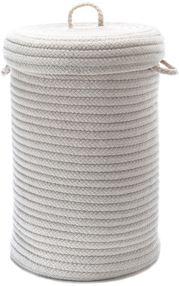 Colonial Mills Wool Blend Natural Hamper With Lid
