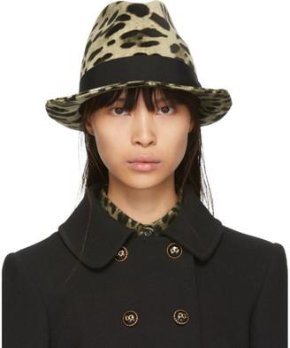 Dolce & Gabbana Brown and Tan Leopard Print Hat