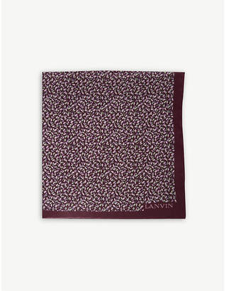Lanvin Colour-block and polka-dot silk pocket square