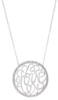 Lord & Taylor Sterling Silver Love Pendant Necklace