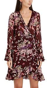 By Ti Mo byTiMo Women's Floral Georgette Wrap Mini-Dress