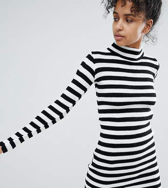 Daisy Street Sweater Dress In Stripe