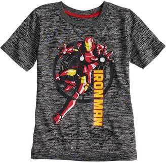Iron Man Boys 4-10 Jumping Beans Marvel Marled Active Tee