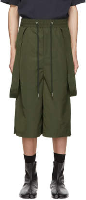 D.gnak By Kang.d Khaki Side Attaching Shorts