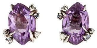 Alexis Bittar Amethyst & Diamond Earrings