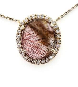Kimberly Mcdonald Super Seven Quartz and Diamond Necklace