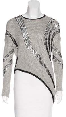 Helmut Lang Striped Asymmetrical Sweater