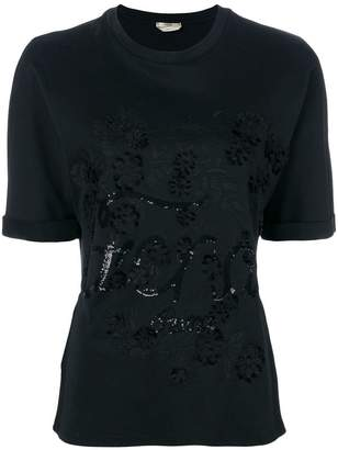 Fendi logo embroidered T-shirt