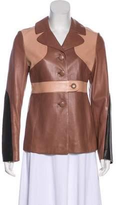 Marni Leather Paneled Jacket