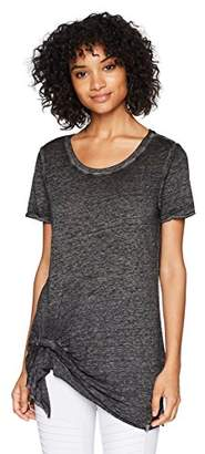 Andrew Marc Performance Women's Draped Front Tee