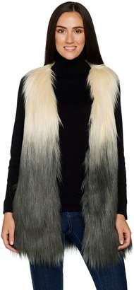 Lisa Rinna Collection Ombre Faux Fur Vest