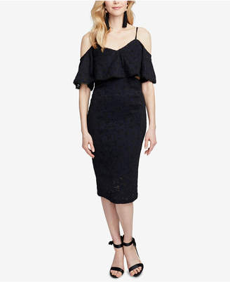 Rachel Roy Cutout Lace Midi Dress