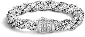 John Hardy Twist Chain Pave Diamond Bracelet