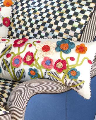 Mackenzie Childs MacKenzie-Childs Long Tic-Tac-Posie Lumbar Pillow