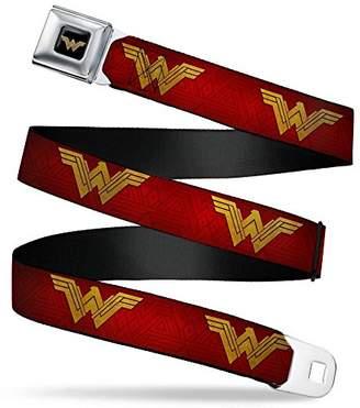 Buckle-Down Men's Seatbelt Belt Wonder Woman XL