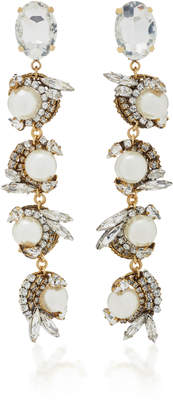 Erickson Beamon Delicate Balance 24K Gold-Plated Crystal And Pearl Earrings