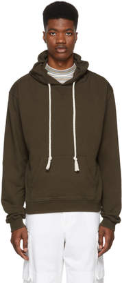 J.W.Anderson Khaki Embroidered Hood Logo Hoodie