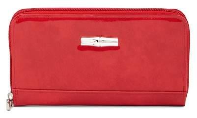 LONGCHAMP Roseau Box Patent Leather Zip Wallet