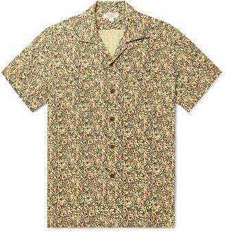 J.Crew Wallace & Barnes Slim-Fit Camp-Collar Printed Cotton-Jacquard Shirt