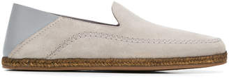 Ermenegildo Zegna contrast slip-on loafers