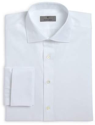 Canali Herringbone French Cuff Classic Fit Dress Shirt