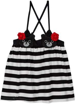 Funkyberry Beary Striped Dress (Baby, Toddler, Little Girls, & Big Girls)