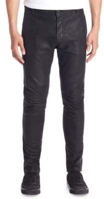 Vince Slim-Fit Leather Moto Pants