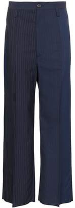 Marni Pinstripe Two-Tone Trousers