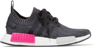 adidas Originals - Nmd_r1 Rubber-paneled Primeknit Sneakers - Black $170 thestylecure.com