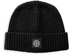 Stone Island Men's Patch Wool Beanie